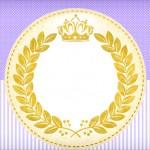 Coroa de Princesa Lilás – Kit Completo com molduras para convites, rótulos para guloseimas, lembrancinhas e imagens!