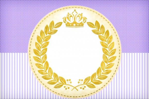 Convite Coroa de Princesa Lilás: