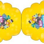 Convite Cupcake Bita e os Animais para Meninos