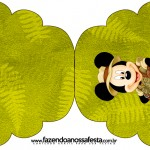 Convite Cupcake Mickey Safari