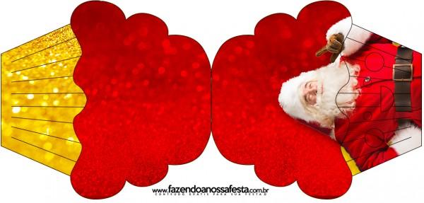 Convite Cupcake Natal Papai Noel