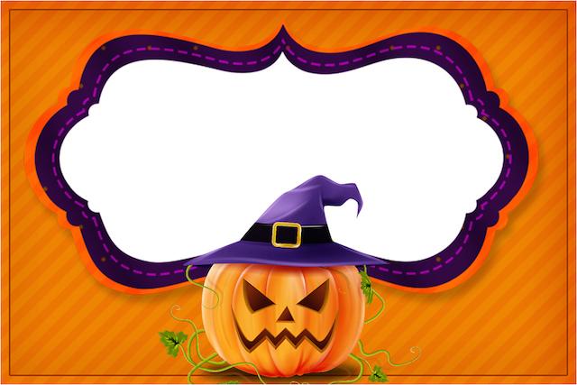 Convite Halloween Abóbora.