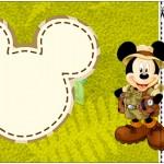 Convite Ingresso Mickey Safari
