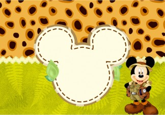 Mickey Safari - Kit Festa Infantil!