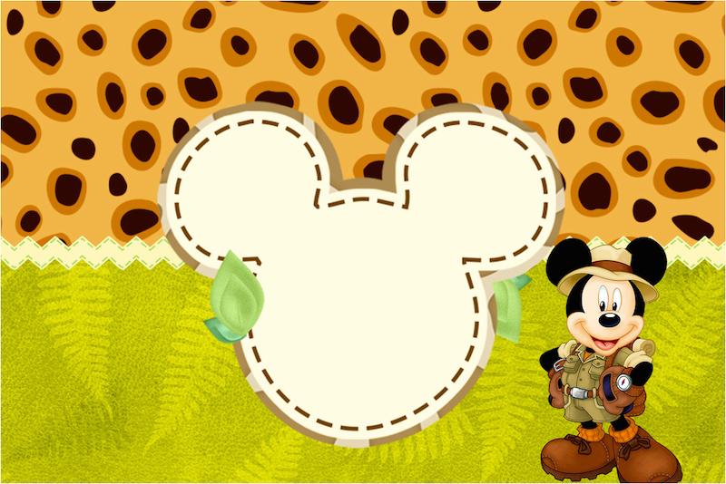 Convite Mickey Safari