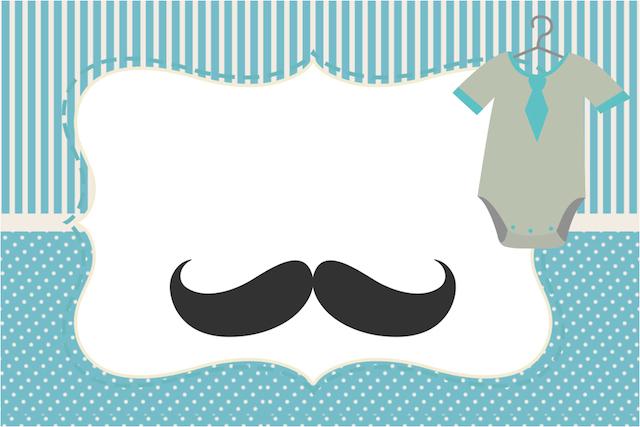 de beb mustache bigode kit completo   molduras para convites