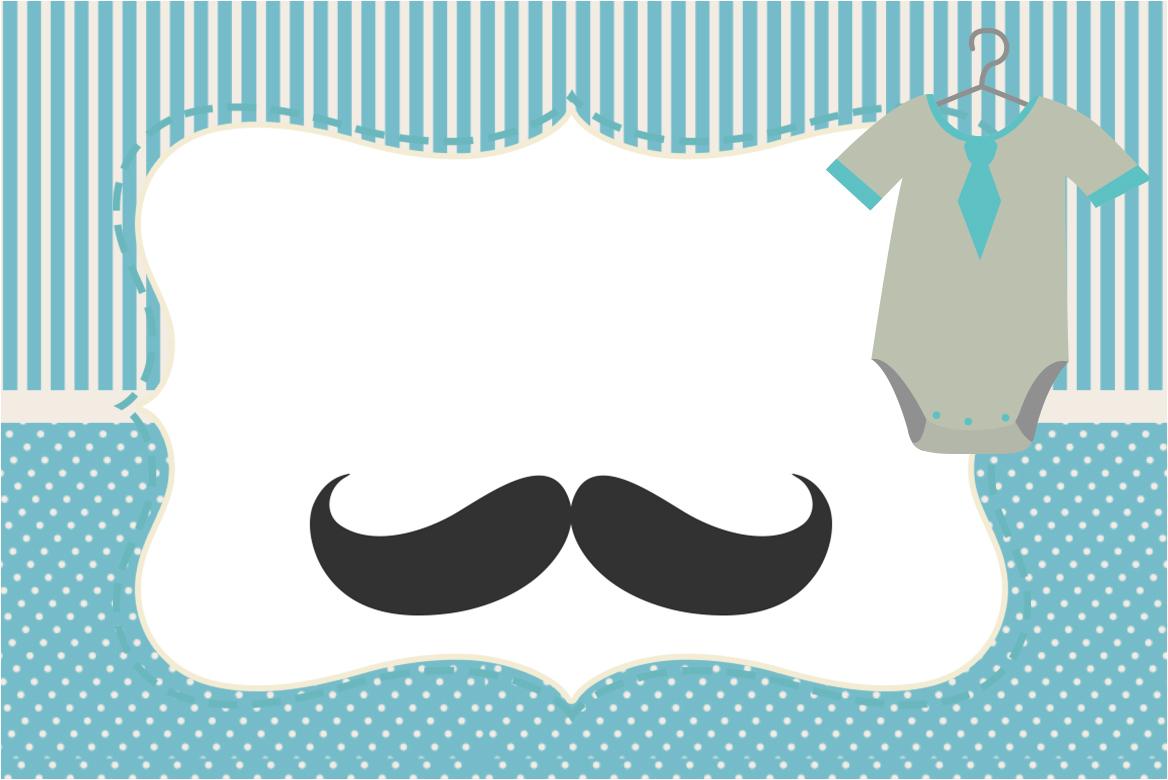 Convite Moldura E Cart 227 O Ch 225 De Beb 234 Mustache Fazendo A