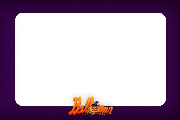 Convite, Moldura e Cartão Halloween Bruxinha