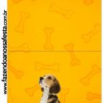 Convite Pirulito Cachorrinho Beagle