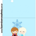 Convite Pirulito Frozen Cute Roxo e Azul
