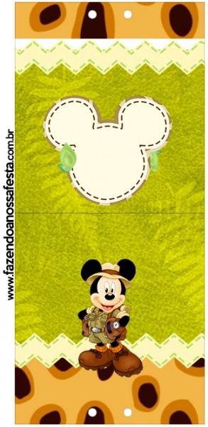 Convite Pirulito Mickey Safari