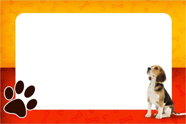 Convite ou Cartão Cachorrinho Beagle