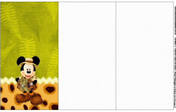 Convite,Cardápio ou Cronograma em Z Mickey Safari