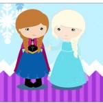 Copinho de Brigadeiro Frozen Cute Roxo e Azul