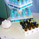Cupcakes e Copinho de Brigadeiro Chá de Bebê Coroa de Príncipe