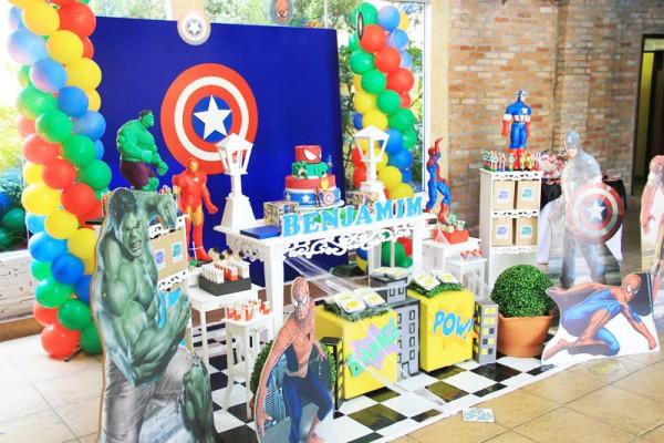 Decoração 1 Festa Super Heróis
