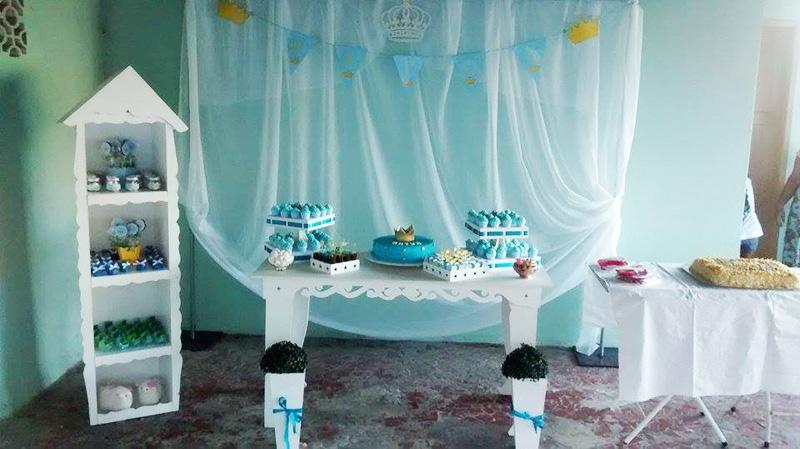 Decoração Chá de Bebê Coroa de Príncipe
