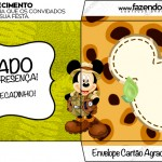 Envelope Agradecimento Mickey Safari