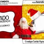 Envelope Agradecimento Natal Papai Noel