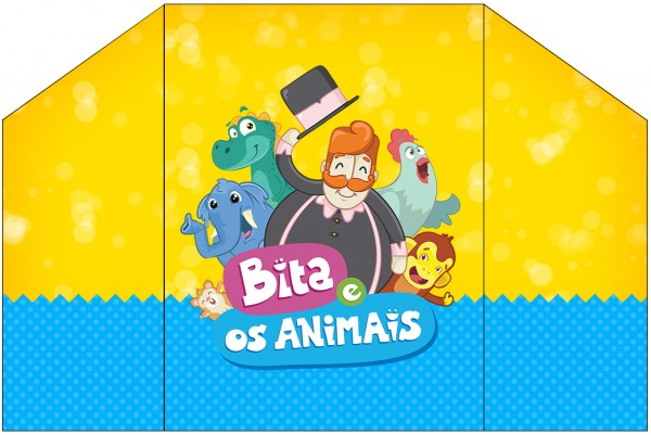 Envelope Convite Bita e os Animais para Meninos