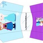 Envelope Fritas Frozen Cute Roxo e Azul