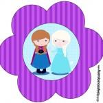 Flor Frozen Cute Roxo e Azul