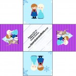 Forminhas Docinhos Frozen Cute Roxo e Azul 1