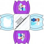 Forminhas Docinhos Frozen Cute Roxo e Azul