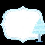 Frame Frozen Cute Roxo e Azul