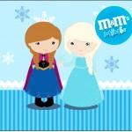 Rótulo Mini M&M Frozen Cute
