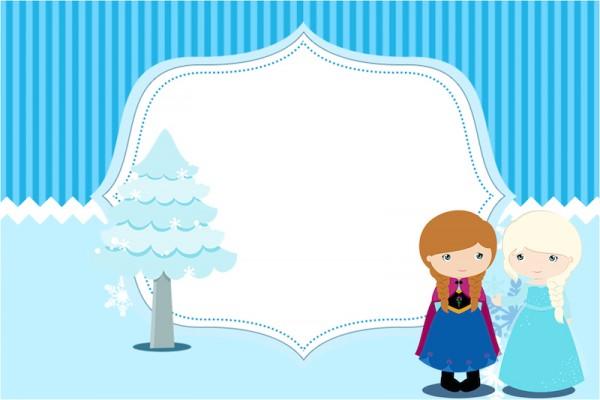 Convite Frozen Cute