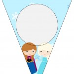 Bandeirinha Varalzinho Frozen Cute