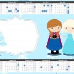 Convite Calendário 2015 Frozen Cute