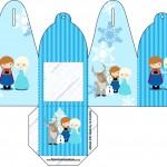 Caixa com Foto Frozen Cute