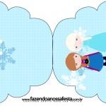 Convite Cupcake Frozen Cute