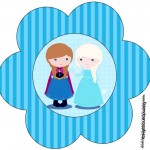 Flor Toppers Caixa Frozen Cute