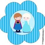 Flor Toppers Caixa Frozen Cute