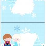 Cartão Agradecimento de Mesa Frozen Cute