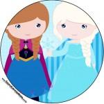 Rótulo Tubetes, Latinhas e Toppers para Docinhos Frozen Cute