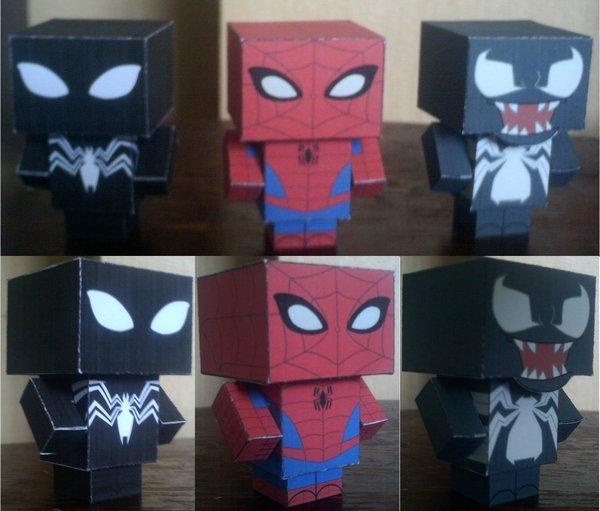 Homem Aranha e Venom 3D
