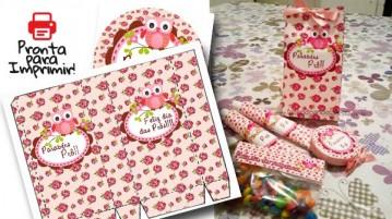 Kit de Lembrancinhas para Dia dos Professores Corujinha Floral !