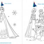 Livrinho de Atividades Frozen Página 1