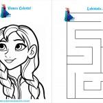 Livrinho de Atividades Frozen Página 4