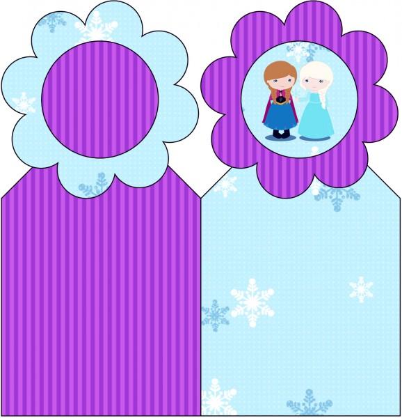 Marcador de Páginas Frozen Cute Roxo e Azul