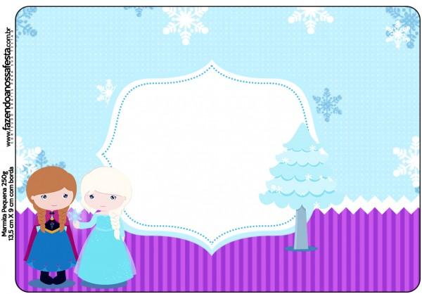 Marmita Frozen Cute Roxo e Azul