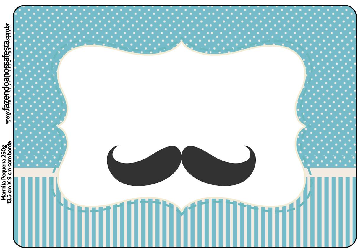 marmitinha ch de beb mustache   fazendo a nossa festa