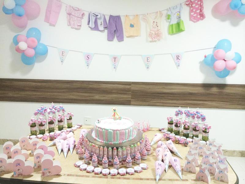 Mesa de Doces Chá de Bebê Menina