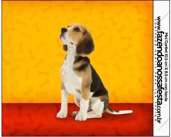 Mini Confeti Cachorrinho Beagle