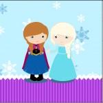 Mini Confeti Frozen Cute Roxo e Azul