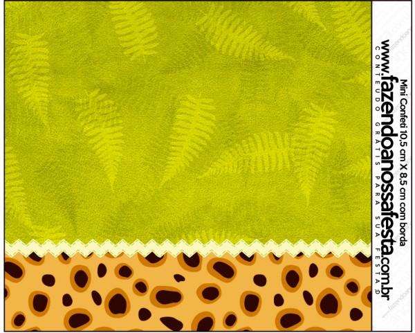 Mini Confeti Fundo Safari